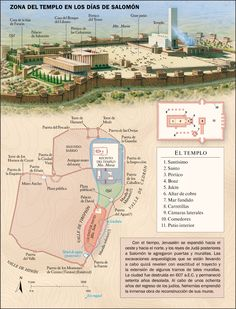 Temple Area in Solomon's time. Bible Study Notebook, Scripture Study, Solomons Temple, Israel History, Bible Mapping, Bible College, Bible Knowledge, Bible Teachings, Holy Land