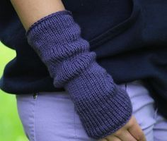 Easy Knit Arm Warmers Worsted Weight Yarn Single Point Needles