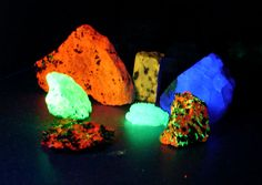 fluorescent rocks and minerals - Google Search