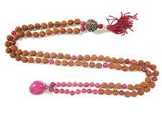 Heart Chakra Mala- Pink Jade Prayer Beads Rudraksha Yoga Spiritual Necklace Mogul Interior http://www.amazon.com/dp/B00PACDZEG/ref=cm_sw_r_pi_dp_Yuonvb07168ZB