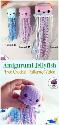 Next Previous Amigurumi Jellyfish Crochet Free Sample&Video – Toy Softies Free Crochet Patterns Next Previous Octopus Crochet Pattern Free, Crochet Fish Patterns, Crochet Octopus, Crochet Amigurumi Free Patterns, Crochet Dolls, Cute Crochet, Crochet Crafts, Crochet Projects, Crochet Tutorials