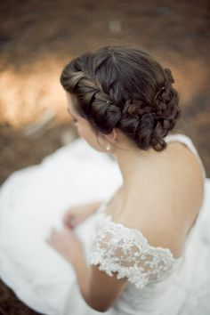 lovely wedding hair (I'd love my hair like this but in a wavy/curly side ponytail rather than all tucked up)