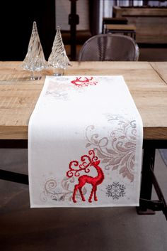 Proud Deer Table Runner - counted cross-stitch kit Vervaco