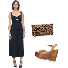 A little leopard goes a long way by theyoungcontemporary on Polyvore featuring polyvore, fashion, style, Rebecca Taylor, Topshop and Clare V.