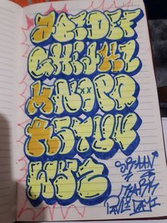 Lettering Styles Alphabet, Graffiti Lettering Alphabet, Graffiti Text, Graffiti Piece, Graffiti Doodles, Graffiti Writing, Graffiti Murals, Doodle Lettering, Doodle Fonts