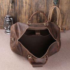 Handmade Vintage Leather Holdall Duffle Bag for Men – ROCKCOWLEATHERSTUDIO