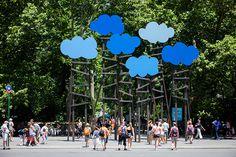 """Clouds"" by Olaf Breuning, 2013. Installation"