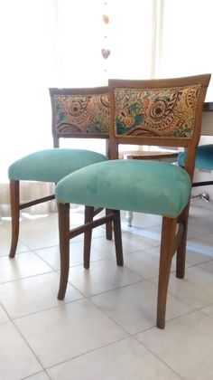 Furniture Fix, Recycled Furniture, Painted Furniture, Furniture Design, Dining Table Chairs, Upholstered Dining Chairs, Muebles Shabby Chic, Indian Home Decor, Chair Upholstery
