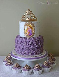 3 tier pastel princess cake with handmade rose – Artofit Rapunzel Torte, Bolo Rapunzel, Rapunzel Birthday Cake, Tangled Birthday Party, Disney Princess Birthday Party, Birthday Cake Girls, Birthday Parties, Rapunzel Cake Ideas, 5th Birthday