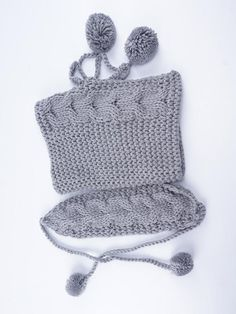 Two-piece Handmade Knitted Scarf&Hat Accessories – oshoplive Baby Knitting Patterns, Hand Knitting, Crochet Baby, Knit Crochet, Crochet Headband Pattern, Scarf Hat, Knitted Shawls, Couture, Handmade