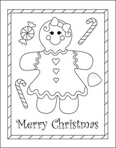 christmas coloring cards for kids printable free coloring cards gingerbread girl christmas coloring pages
