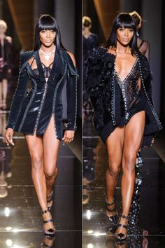 Naomi Campbell opened the week with exactly the high-voltage blast that haute couture demands. Legs and long hair for days not only reminded us why she's in the pantheon of legendary model history, but at Versace she proved she defies time.   - ELLE.com