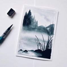 ist Watercolor Illustration, Watercolor Paintings, Watercolors, Painting Inspiration, Art Inspo, Art Sketches, Art Drawings, Aesthetic Painting, Guache