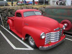 chopped '51 chevy pickup