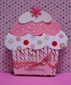 Cup Cake Birthday Card