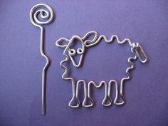 Sheep shawl pin wirework. $14.00, via Etsy.