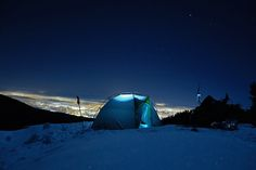 If you& constantly inspired by our local mountains, it& be an easy decision to pack up and spend a night on this easy-to-access, surprisingly stunning ridge, located in North Vancouver. On A Clear Day, North Vancouver, British Columbia, Night Time, Outdoor Gear, Tent, Camping, Explore, Mountains