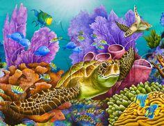 Carolyn Steele tropical art print coral reef by WaterlemonMoon