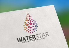 Water Star Logo Templates 100 Editable ¨C 100 Re-sizable ¨C 100 vectorsVertical & horizontal layoutVariations : Color by Josuf Media