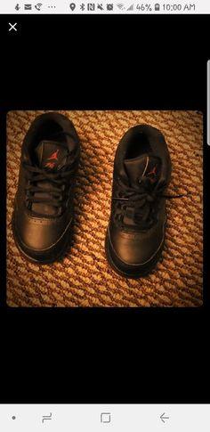 1835299871 Toddler boy Air Jordan shoes size 9C. Black and red  fashion  clothing