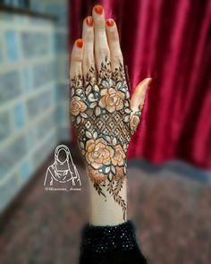 Khafif Mehndi Design, Floral Henna Designs, Henna Tattoo Designs Simple, Stylish Mehndi Designs, Latest Bridal Mehndi Designs, Modern Mehndi Designs, Mehndi Designs For Girls, Henna Art Designs, Mehndi Design Photos