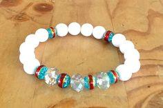 Mystic Island  Beaded Bracelet by KashmereCouture on Etsy