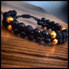 #men#male#mensjewelry#mensbracelet#menstyle#mensfashion#menswear#dailybracelet#igers#luxury#bangle#dapper#black#gold#beads#stylish#GQ#like