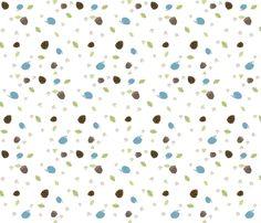 Woodland Friends - Hedgehogs on white fabric by inktreepress on Spoonflower - custom fabric