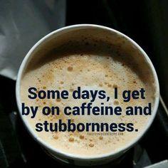 Caffeine and stubbornness.