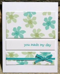 Stampin Up Summer Silhouettes Card. Sentiment from A Dozen Thoughts set.