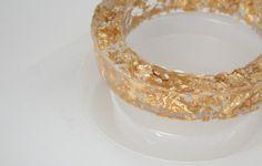 Dream a Little Bigger - Dream a Little Bigger Craft Blog - Gold Leaf Flecked Acrylic BangleTutorial