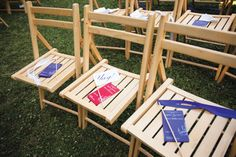 """The couple created """"Yay"""" flags for their guests to express their happy wishes to the newlyweds."""