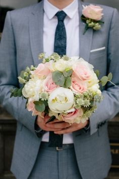 @Bridget P, I thought of you when I saw this wedding bouquet!! - 1920s Garden Wedding