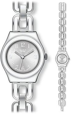 Swatch Irony White Chain Brushed Silver Dial Women's watch #YSS254G