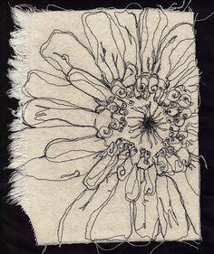Flor em bordado livre