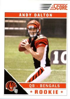 2011 Score Football Card # 308 Andy Dalton RC - Cincinnati Bengals (field in background) (RC - Rookie Card) NFL Trading Card In a Protective Screwdown Case! by SCORE. $3.79. 2011 Panini Score Football Card # 308 Andy Dalton - Bengals