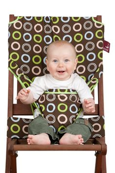 Totseat - convert any chair on the go into a highchair - love this. looks like it might be easy enough to make...