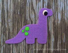Felt dinosaur pattern!