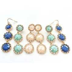 Womens Crystal Fashion Earrings