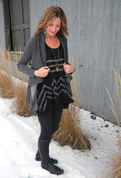 What to wear with an open front cardigan?  www.audreysalutes.com