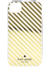 Gold and White, Kate Spade New York Diagonal Stripe 4- I have this case on my phone right now... It's cute but it chips easily:( I would recommend the alternative pink and white striped one my roommate has that is the exact same just different color(& doesn't chip)