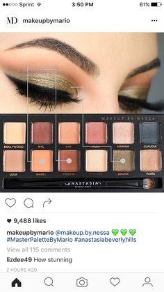Anastasia Mario Palette, Makeup By Mario Palette, Anastasia Beverly Hills Palette, Anastasia Makeup, Eyeshadow Tips, Eyeshadow Looks, Makeup Eyeshadow, Eyeshadow Tutorials, Makeup Inspo