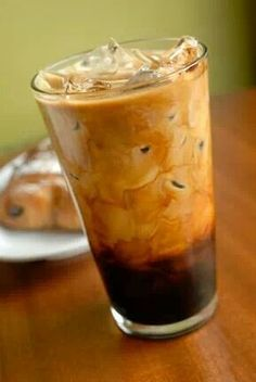 Chilled creamy coffee