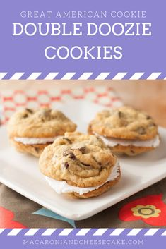 American Cookie Double Doozies These Double Doozie Cookies taste even better than their namesake! Such a delicious treat.These Double Doozie Cookies taste even better than their namesake! Such a delicious treat. Bakery Recipes, Cookie Recipes, Dessert Recipes, Yummy Treats, Delicious Desserts, Yummy Food, Double Doozie Recipe, Cholate Chip Cookies, American Cookies Recipe
