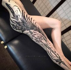 Leg tattoo ideas - Nefera
