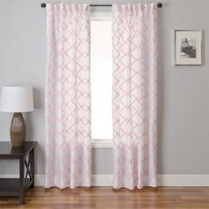 Soft Pink Curtains For A Nursery