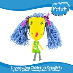 Custom Plushie from your Child's Artwork by Pofuff on Etsy