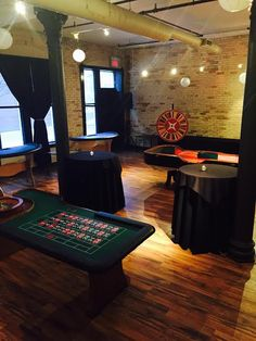 Our event space can be customized to your party's specific needs! Check out this fun casino game night theme!
