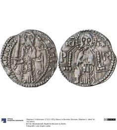 Bosnien: Stephan II. Münze Stephan II. Kotromanic (1322-1353), Banus in Bosnien, Fürstentum, Münzherr ab 1322 Nominal: Grosso, Material: Silber, Druckverfahren: geprägt Gewicht: 2,28 g Durchmesser: 22 mm