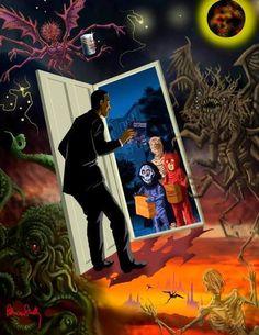 Lovecraft Halloween by Pete Von Sholly